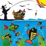 Fishing.Vector. Fotos de archivo