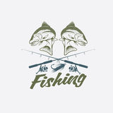 Fishing vector design template Royalty Free Stock Image