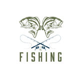 fishing vector design template Stock Image