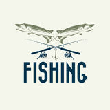 Fishing vector design template Royalty Free Stock Photos