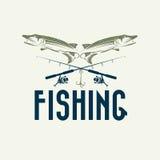 Fishing vector design template Royalty Free Stock Photos