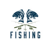 Fishing vector design template Royalty Free Stock Photography