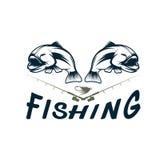 Fishing vector design template Stock Photos