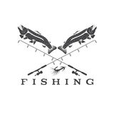 Fishing vector design template Royalty Free Stock Photo