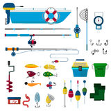 Fishing vector icons illustration Royalty Free Stock Images