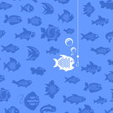 Fishing. Vector illustration Royalty Free Stock Photography