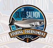 Fishing Vector Logo. Salmon Fish icon. Royalty Free Stock Images