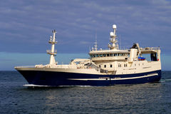 Fishing Vessel A (2). Fishing vessel fully loaded underway to harbour Royalty Free Stock Images