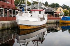 Fishing vessel. A older fishing vessel docked in Halden guest harbour Royalty Free Stock Image
