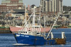 Fishing vessel Blue South Royalty Free Stock Photos