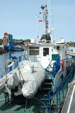 Fishing vessel deck Royalty Free Stock Image