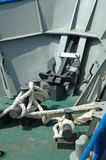 Fishing vessel deck Stock Photo