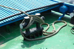 Fishing vessel deck Royalty Free Stock Photos