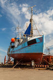 Fishing vessel in dock Royalty Free Stock Images