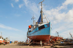 Fishing vessel in dock Stock Photography