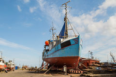Fishing vessel in dock Royalty Free Stock Photos