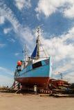 Fishing vessel in dock Stock Photos