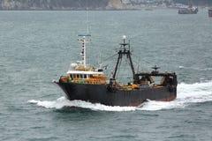 Fishing vessel No.507. Busan, South Korea - November 23th, 2015: Busan, road of the port of Busan, anchorage of sea vessels, crosses the South Korea fishing Royalty Free Stock Image