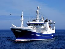 Fishing Vessel P1. Fishing Vessel underway to harbour to land fish Stock Photography