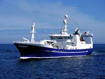 Fishing Vessel P2. Fishing Vessel underway to harbour to land fish Royalty Free Stock Photography