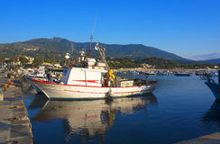 Fishing vessel in port Royalty Free Stock Images