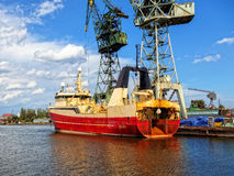 Fishing vessel - trawler Stock Image