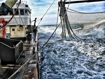 Fishing vessel. A view on the life of a Dutch fisherman Royalty Free Stock Photos