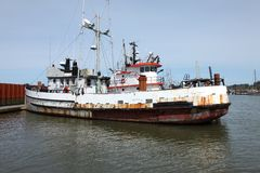 Fishing vessels old & new, Astoria Oregon. Stock Photography