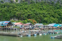 Fishing villag Stock Photos