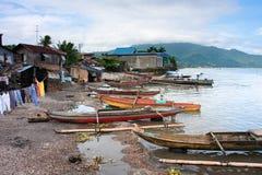 Fishing village. A fishing village along Laguna lake, Los Banos Royalty Free Stock Images