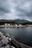 Fishing Village. Boat houses in a small fishing village in Northern Norway Stock Photography