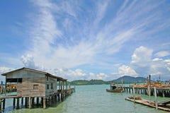 Fishing Village. In Pangkor, Malaysia stock photos