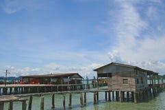 Fishing Village. In Pangor, Malaysia royalty free stock photos