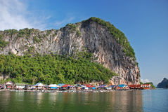 Fishing village. On Koh Panyi island, Thailand Royalty Free Stock Images