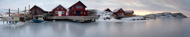 Fishing village. Typical small swedish west coast fishing village Royalty Free Stock Images