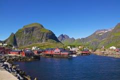 Fishing village. Traditional fishing village A i Lofoten, Norway, in summer Stock Photo
