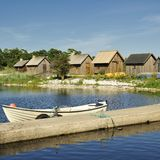 Fishing village. In Gotland, Sweden Stock Image