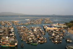 Fishing village. Tourist resorts ,Sanya City SouthBay fishing village,Residential areas at sea Stock Photo