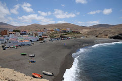 Fishing village Ajuy. Fuerteventura, Spain Royalty Free Stock Photo