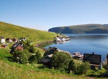 Fishing village Akkarfjord in summer Royalty Free Stock Photography
