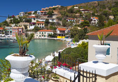 Fishing village of Assos in Greece Stock Images