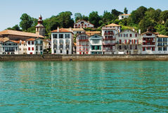 Fishing village in the Basque country. Typical port village in the French Basque country Royalty Free Stock Photo