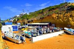 Fishing village Benagil Beach in Portugal Royalty Free Stock Image