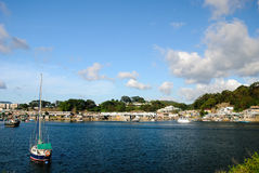 Fishing Village and boat Royalty Free Stock Image