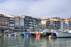 Fishing village and boats in Lekeitio. Stock Photo