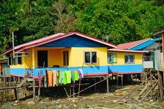 Fishing village, Borneo, Malaysia Stock Images