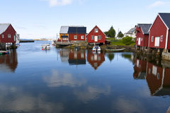 Fishing village Bud, Norway. Typical view of scandinavian fishing village,  Bud, Norway Stock Photos