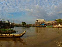 Fishing Village in Cambodia. Fishing village near Seam Reap in Cambodia. Travelling by boat to get there. No roads. Local people very friendly Stock Photos