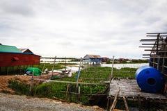 Fishing Village in Cambodia Stock Photos