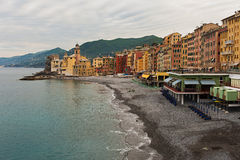 The fishing village of Camogli. In Liguria, Italy Royalty Free Stock Images